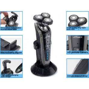 Shaver Spy Camera - HD Bathroom Spy Camera Waterproof Spy Shaver Camera DVR 32GB 1280x720
