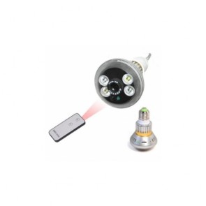 Bulb Design Hidden Camera DVR With Night Vision 7 Changeable Functions Support 7 Days Video Recording