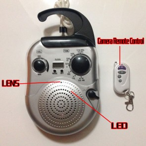 Radio Spy Camera Waterproof Hidden HD 1080P DVR 32GB Motion Activated And Remote Control,best Shower Radio Spy Camera, Bathroom Spy Camera