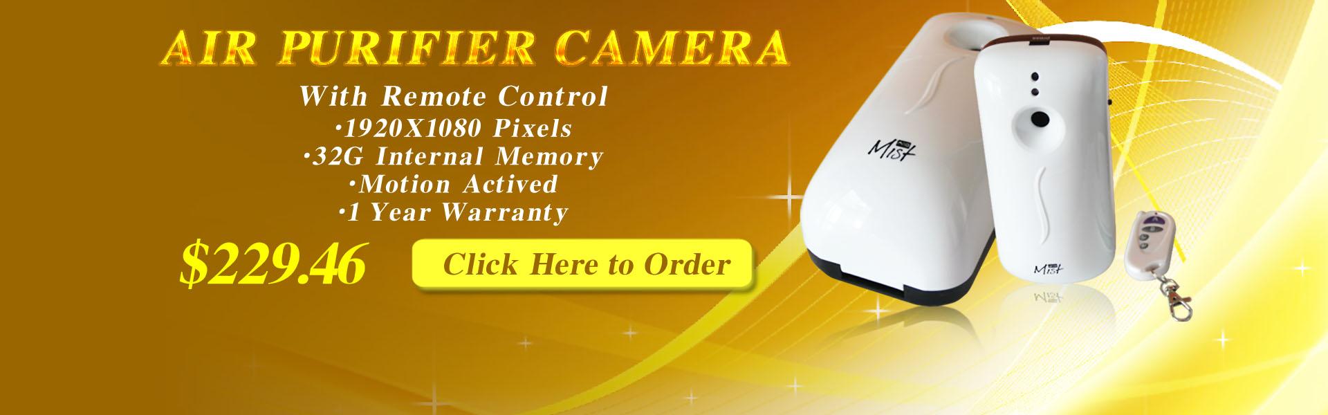 Air Purifier Spy Camera 32GB (Motion detection) Air Purifier Hidden Camera