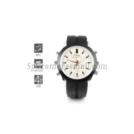 Spy Watch Cameras recoder - 720P HD Hidden Sports Watch with MP3 Player (4GB)