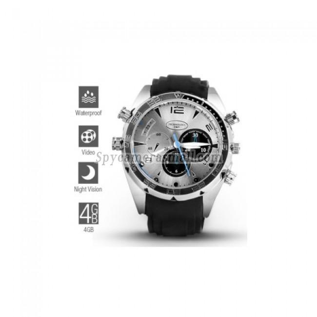 hidden Spy Watch Cameras - 1080P HD IR Night Vision Waterproof Spy Watch (4GB)