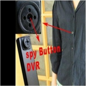 hidden Spy Button Cam DVR - Digital Camcorder Button Spy Camera